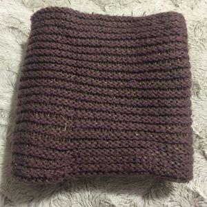Infinity dark purple scarf